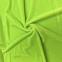 *2 YD PC--Neon Green Stretch Velvet