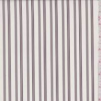 Ivory/Maroon/Taupe Stripe Peachskin