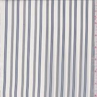 White/Blue/Pewter Stripe Peachskin