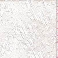 Pearl Cream Coated Floral Lace