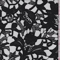 Black Floral Guipure Lace