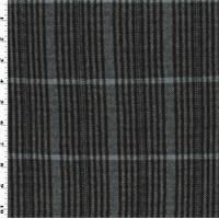*1 YD PC--Black/Gray/Blue Wool/Cotton Plaid Flannel