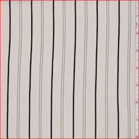 *1 3/8 YD PC--Canvas White Stripe Silk Crepe de Chine