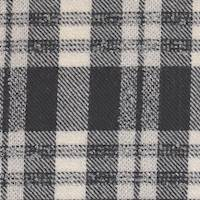 *3 YD PC--Black/Ivory Wool Plaid Suiting