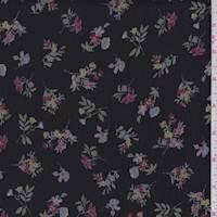 Black/Multi Crinkle Floral Chiffon