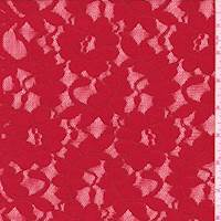 Bright Red Floral Jacquard Lace