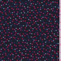 Black Multi Confetti Dot Crepe