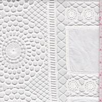White Floral Medallion Patchwork Lace