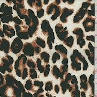 *3 3/8 YD PC--Ivory/Black Cheetah Activewear