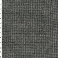 *2 1/2 YD PC--Black/White Wool Flannel Houndstooth Jacketing