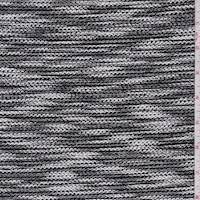 *3/4 YD PC--Black/White Combo Boucle Knit