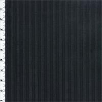 *1 1/2 YD PC--Black/Blue Wool Stripe Twill Suiting