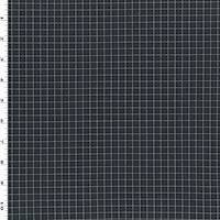 *2 3/8 YD PC--Black/Navy/White Grid Double Knit
