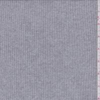 *2 YD PC--Heather Grey Ribbed Sweater Knit