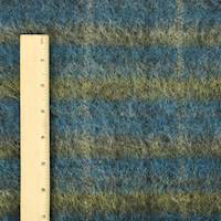 *4 YD PC--Blue/Yellow/Black Texture Pile Sweater Knit