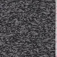 *3 1/4 YD PC--Black/White/Grey Knit Jacketing