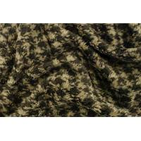 *1 1/2 YD PC--Brown Houndstooth One Sided Sherpa Fleece Knit