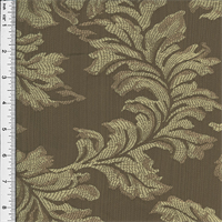 *2 YD PC--Jacquard Leaf Brown Home Decorating Fabric