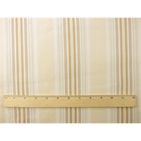 *1 YD PC--Beige Cotton Stripe Twill Home Decorating Fabric