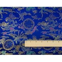 *3 1/8 YD PC--Blue/Multi Chinese Brocade