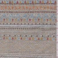 *1 7/8 YD PC--Tan Multi Southwest Stripe Tapestry