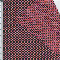 *2 3/4 YD PC--Black/Magenta/Orange Polka Dot Textured Novelty Knit