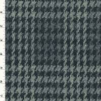 *3 7/8 YD PC--Jade Black/Gray Houndstooth Double Knit Jacquard