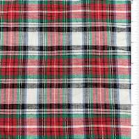 White/Cherry Plaid Flannel