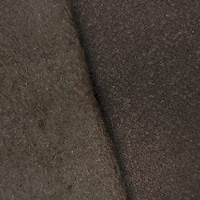 Earth Brown Wool Blend Brushed Back Textured Jacketing