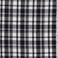 White/Black Plaid Flannel