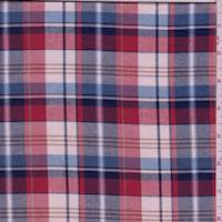 Red/Cream Plaid Flannel
