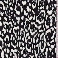 Black/White Animal Print Activewear Knit