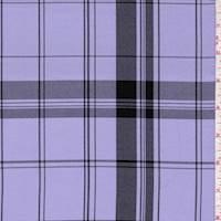 Lavender/Black Plaid Suiting