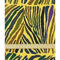 *4 YD PC--Yellow/Purple/Multi Abstract Zebra Print Crepe Faille