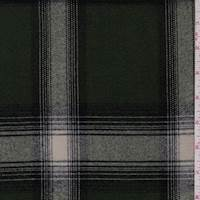 *3 3/4 YD PC--Moss/Stone Plaid Flannel Suiting