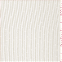 *3 1/2 YD PC--Ivory Dotted Stripe Polyester