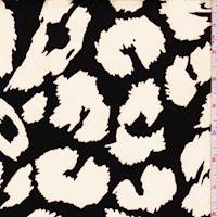 *2 3/8 YD PC--Black/White Abstract Cheetah Sateen