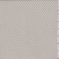 *2 3/4 YD PC--Pale Beige/Black Dot Cotton Shirting