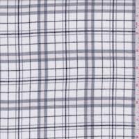 *2 1/2 YD PC--White/Grey Plaid Flannel