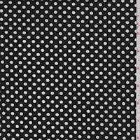 *3 1/4 YD PC--Black Dot Poplin
