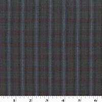 *6 YD PC--Black/Navy/Multi Linen Plaid Shirting