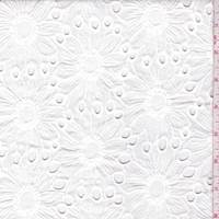 Ivory Embroidered Floral Eyelet