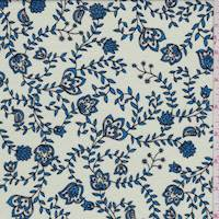 Pale Mint/Sapphire Vine Jersey Knit
