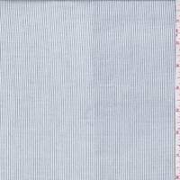 White/Slate Blue Pinstripe Challis