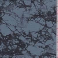 Blue/Black Marble Print Voile
