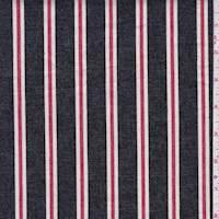 Dark Navy/Red/White Stripe Stretch Denim