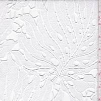 White Tropical Leaf Damask Lace