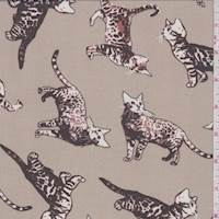 *2 5/8 YD PC--Taupe Tabby Cat Georgette