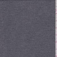 *3 1/2 YD PC--Heather Stone Grey Rib Knit