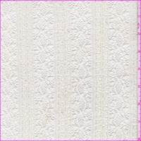 *2 3/4 YD PC--Whisper White Ruffle Stripe Lace